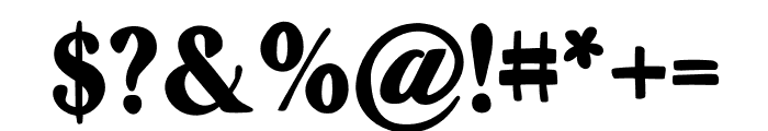 Zyain Medium Font OTHER CHARS