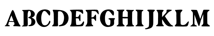 Zyain Medium Font UPPERCASE