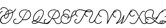 aaleyah-light Font UPPERCASE