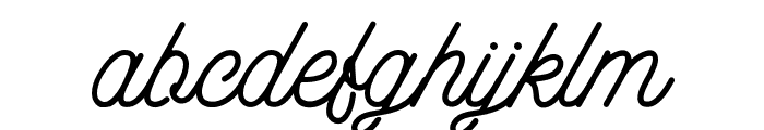 aaleyah-light Font LOWERCASE