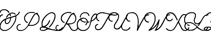 aaleyah-normal-rough Font UPPERCASE