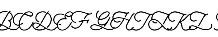 aaleyah-normal Font UPPERCASE