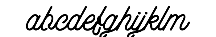 aaleyah-normal Font LOWERCASE