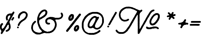 aaleyah-thick-rough Font OTHER CHARS