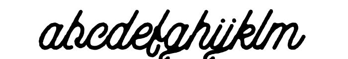 aaleyah-thick-rough Font LOWERCASE