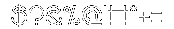 alberto-Hollow Font OTHER CHARS