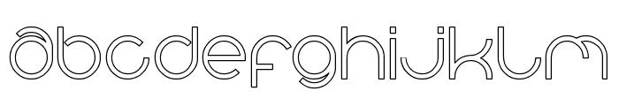 alberto-Hollow Font LOWERCASE