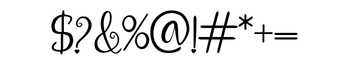 aleidita's heart Font OTHER CHARS