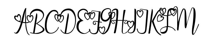 aleidita's heart Font UPPERCASE