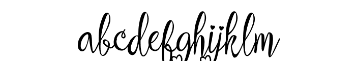 aleidita's heart Font LOWERCASE