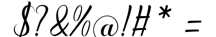 amandareguler-artdesign Font OTHER CHARS