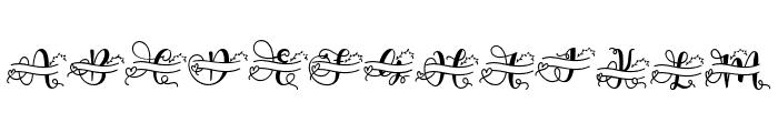 ameliana monogram Font UPPERCASE
