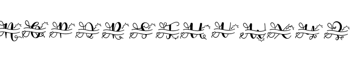 ameliana monogram Font LOWERCASE