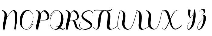 balinda Font UPPERCASE