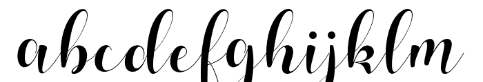 balinda Font LOWERCASE