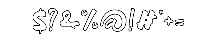 beandisplayoutline Font OTHER CHARS
