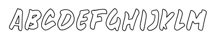beandisplayoutline Font UPPERCASE