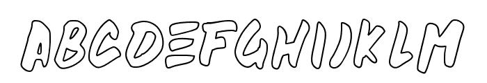 beandisplayoutline Font LOWERCASE