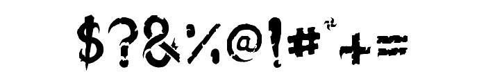 blackdogma Font OTHER CHARS