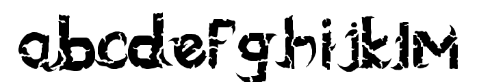 blackdogma Font LOWERCASE