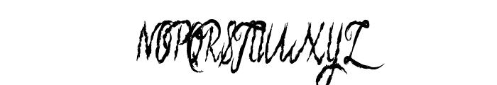 blueberry brush Font UPPERCASE