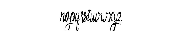 blueberry brush Font LOWERCASE
