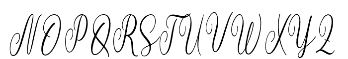 blustella Font UPPERCASE