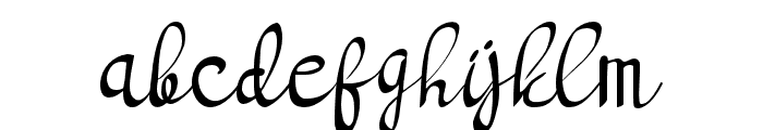 bright light Regular Font LOWERCASE