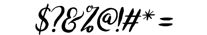 bromello-Italic Font OTHER CHARS