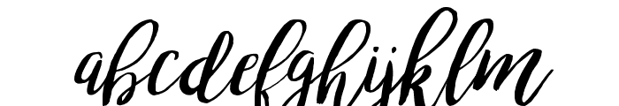 bromello-Italic Font LOWERCASE