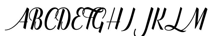 catfish script Font UPPERCASE