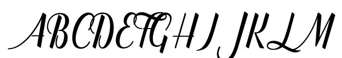 catfishscript Font UPPERCASE