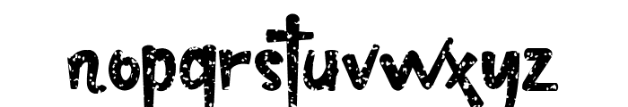 christopher texture Font LOWERCASE