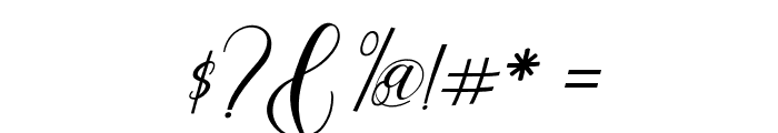 claudia-Italic Font OTHER CHARS