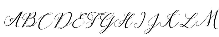 claudia-Italic Font UPPERCASE