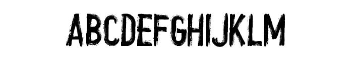 crush Font UPPERCASE