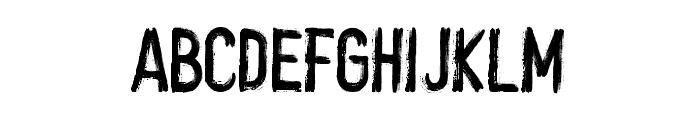 crush Font LOWERCASE