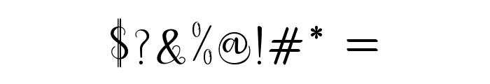 dahliascript Font OTHER CHARS