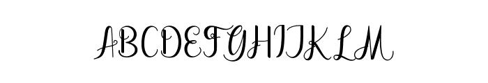 dahliascript Font UPPERCASE