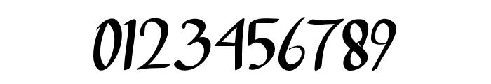deep blue Regular Font OTHER CHARS