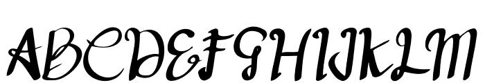 deep blue Regular Font UPPERCASE