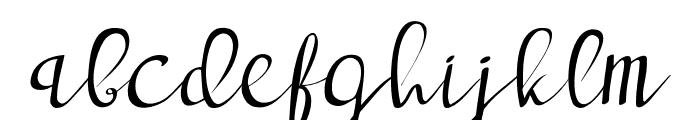 deep blue Regular Font LOWERCASE