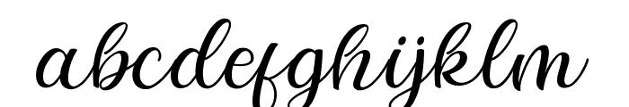elegant-Regular Font LOWERCASE