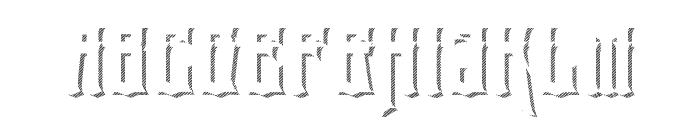 eltigresshadowone Font UPPERCASE