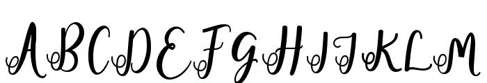 fadilla-Regular Font UPPERCASE