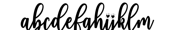 fadilla-Regular Font LOWERCASE