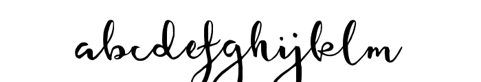 featherly handlettered Font LOWERCASE