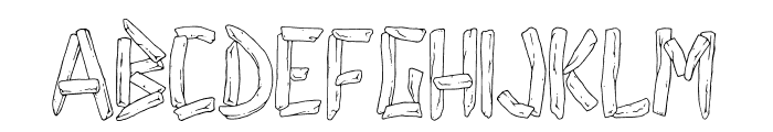 french fries Font UPPERCASE