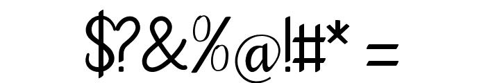 goodbye art design Font OTHER CHARS