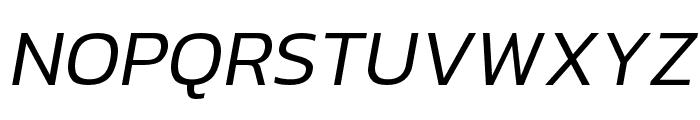 hailey-LightItalic Font UPPERCASE